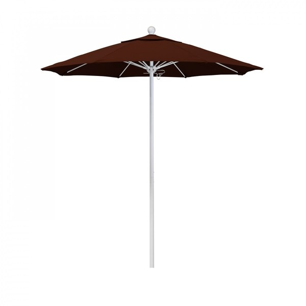 "March Patio Umbrella,  Octagon,  96"" H,  Pacifica Fabric,  Brick ALTO758170-SA40"