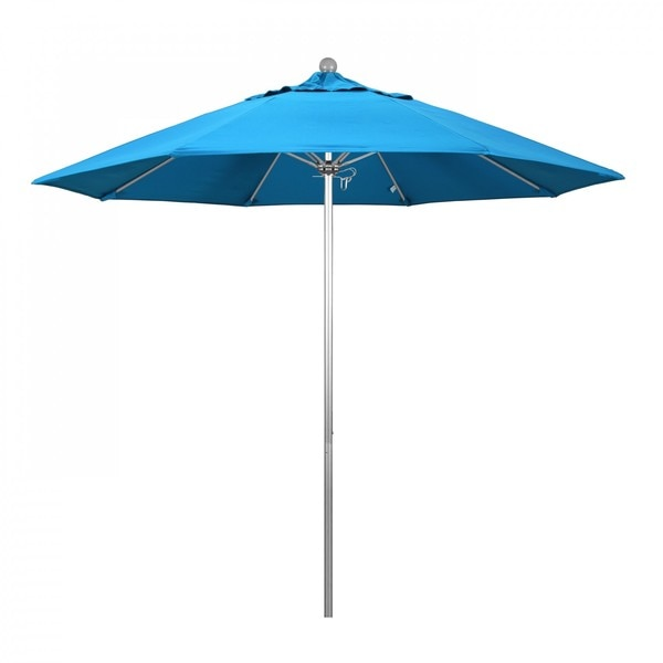 "March Patio Umbrella,  Octagon,  103"" H,  Sunbrella Fabric,  Canvas Cyan ALTO908002-56105"