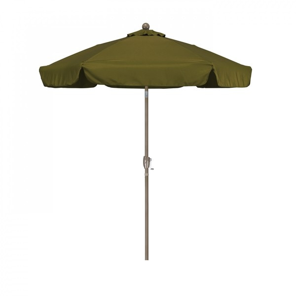 "March Patio Umbrella,  Octagon,  92"" H,  Polyester Fabric,  Palm ALUS756T-SP21"