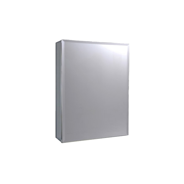 "Ketcham 16"" x 30"" Surface Mounted/Recessed Beveled Edge Medicine Cabinet AL-1630BV"