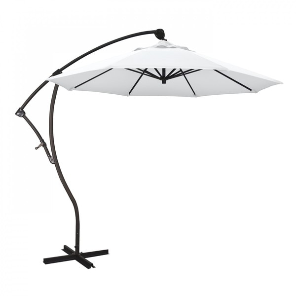 "March Patio Umbrella,  Octagon,  95"" H,  Olefin Fabric,  White BA908117-F04"