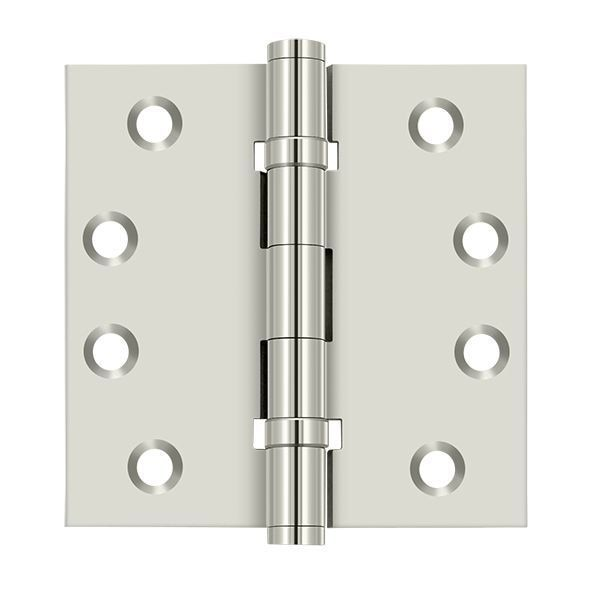 Deltana Bright Nickel Door and Butt Hinge DSB4B14