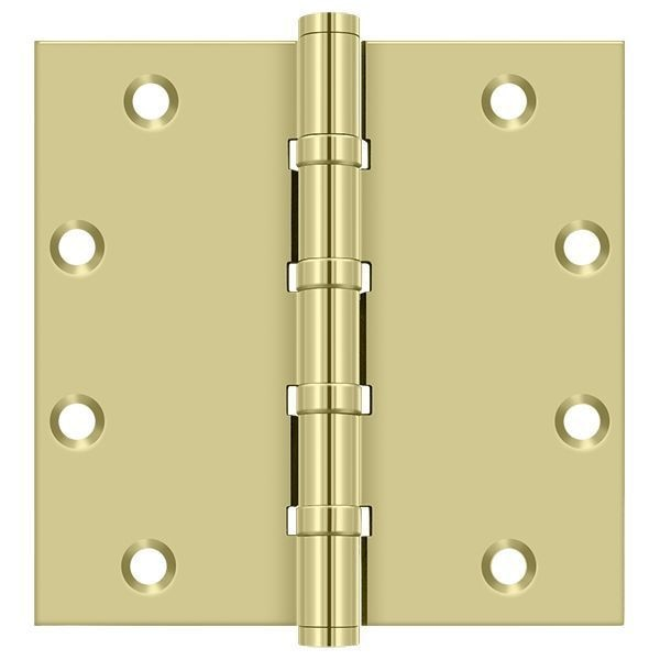Deltana Bright Brass Door and Butt Hinge DSB55B3-UNL