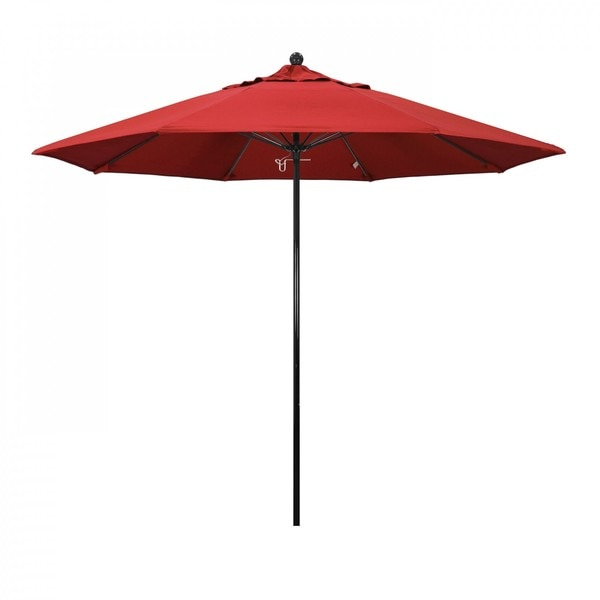 "March Patio Umbrella,  Octagon,  105"" H,  Olefin Fabric,  Red EFFO908-F13"