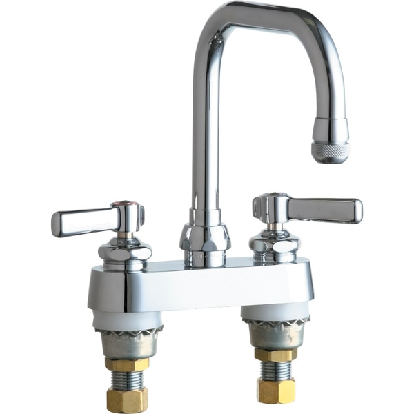 """Chicago Faucets Manual 4"""" Mount,  Bathroom Faucet,  Chrome plated 526-XKABCP"""