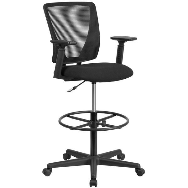 Flash Furniture Draft Chair, Black Seat, Mesh Back GO-2100-A-GG