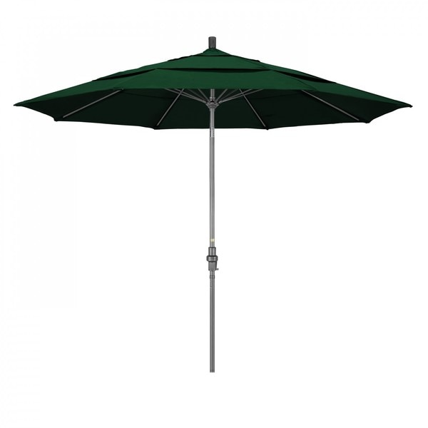 "March Patio Umbrella,  Octagon,  109.5"" H,  Sunbrella Fabric,  Forest Green GSCUF118010-5446-DWV"