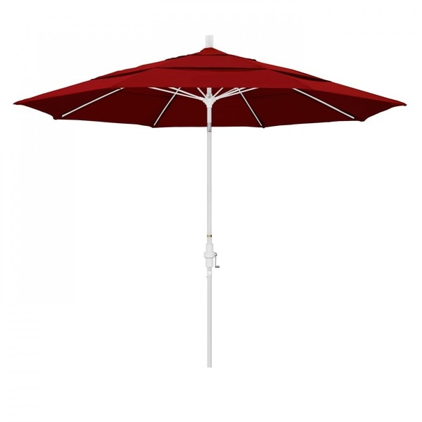 California Umbrella Patio Umbrella, White Aluminum Pole, 11 Ft GSCUF118170-5403-DWV