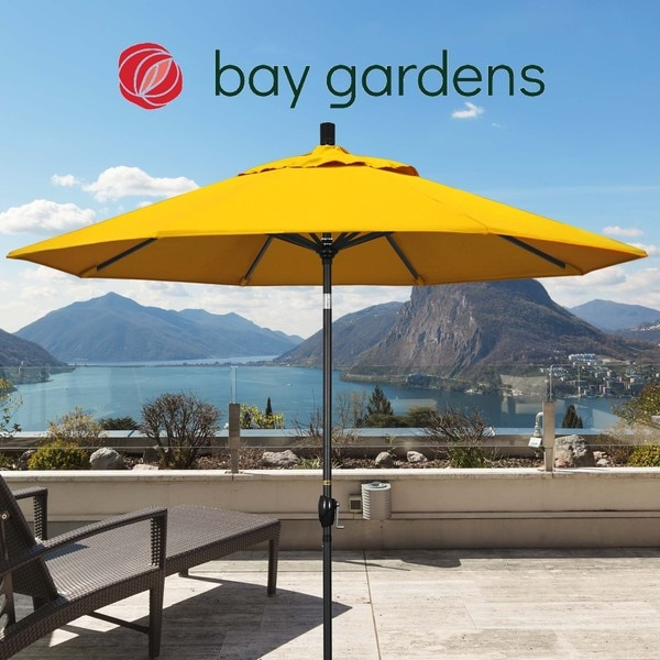 "March Patio Umbrella,  Octagon,  101"" H,  Sunbrella Fabric,  Sunflower Yellow GSPT908302-5457"