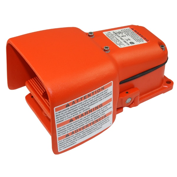 Linemaster Heavy Duty Foot Switch, Momentary Action 532-SWH