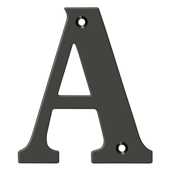 """Deltana Residential Letter A Oil Rubbed Bronze 4"""" RL4A-10B"""