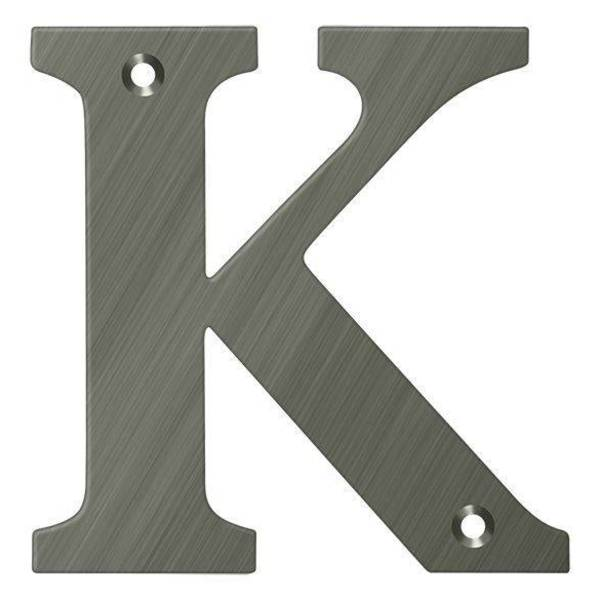 "Deltana Residential Letter K Antique Nickel 4"" RL4K-15A"