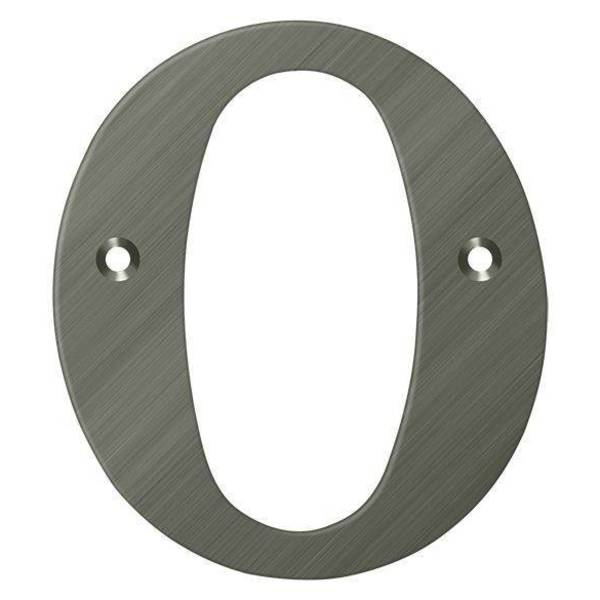 "Deltana Residential Letter O Antique Nickel 4"" RL4O-15A"