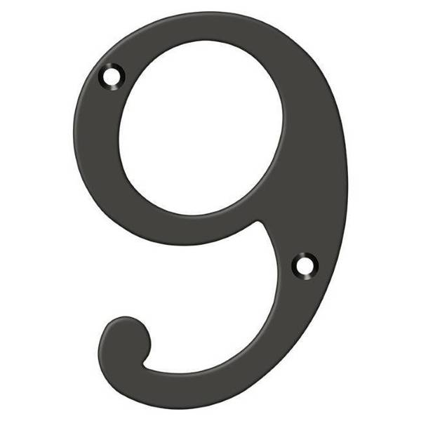 """Deltana Numbers,  Solid Brass Oil Rubbed Bronze 6"""" RN6-9U10B"""