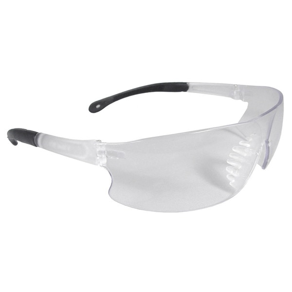 Radians Rad-Sequel™ Safety Glasses Clear Frm ,  Clear Scratch-Resistant Lens RS1-10