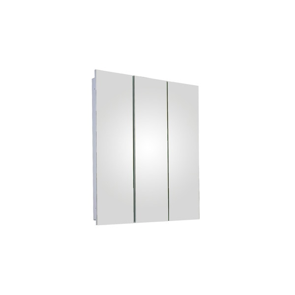 "Ketcham 24"" x 30"" Fully Recessed Polished Edge Tri-View Medicine Cabinet R-2430PE"
