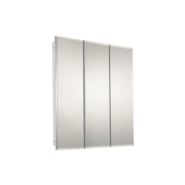 "Ketcham 30"" x 36"" Fully Recessed Beveled Edge Tri-View Medicine Cabinet R-3036BV"