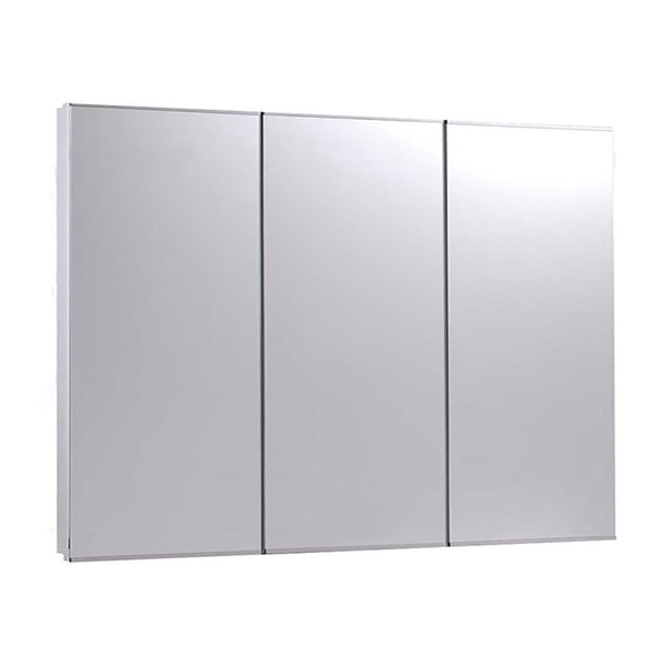 """Ketcham 36"""" x 30"""" Fully Recessed Stainless Steel Trim TriView Medicine Cabinet R-3630"""