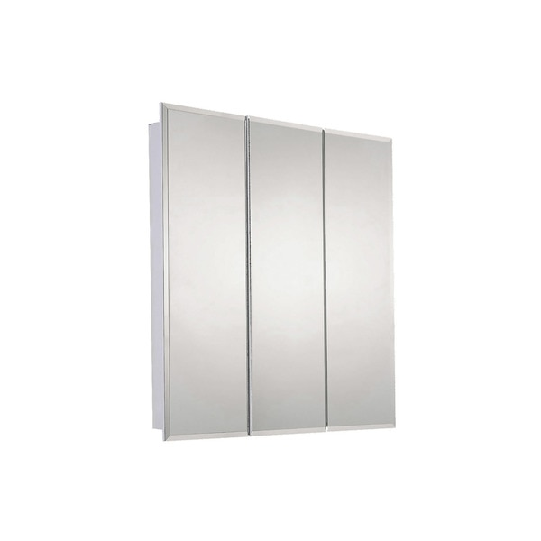 "Ketcham 30"" x 36"" Surface Mounted Beveled Edge Tri-View Medicine Cabinet SM-3036BV"
