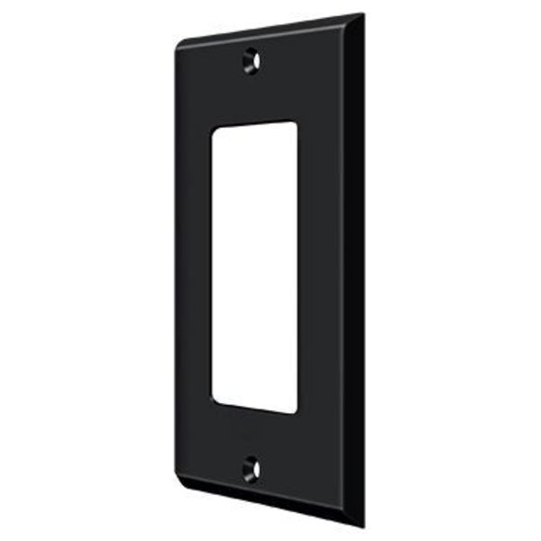 Deltana Switch Plate,  Single Rocker Black SWP4754U19