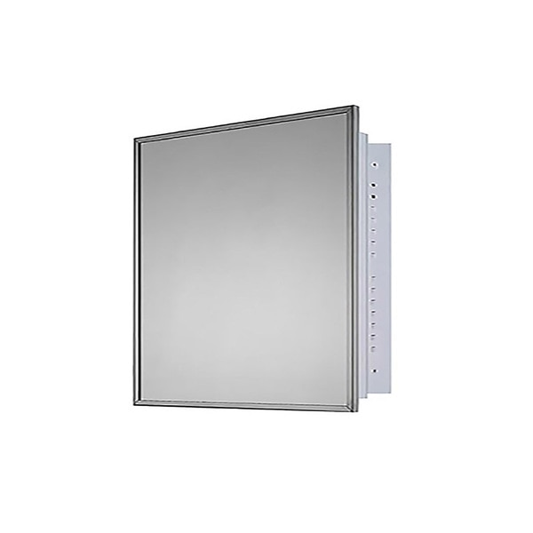 """Ketcham 24"""" x 24"""" Deluxe Recessed Mounted SS Framed Medicine Cabinet 184"""