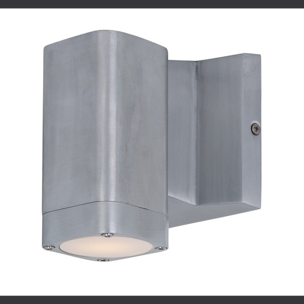 "Maxim Lightray LED 1-Light 4"" Wide Brushed Aluminum Outdoor Wall Sconce 86108AL"