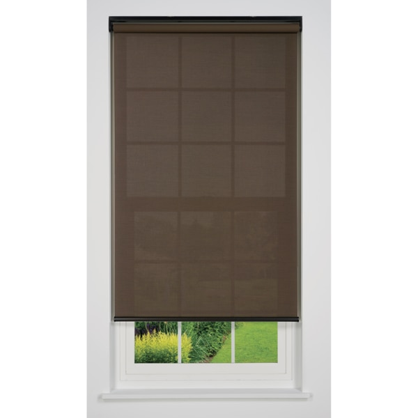 Linen Avenue Cordless 5% Solar Screen Standard Roller Shade, 21 1/4 W x 36 H, Coffee R2SS5CF2125B36
