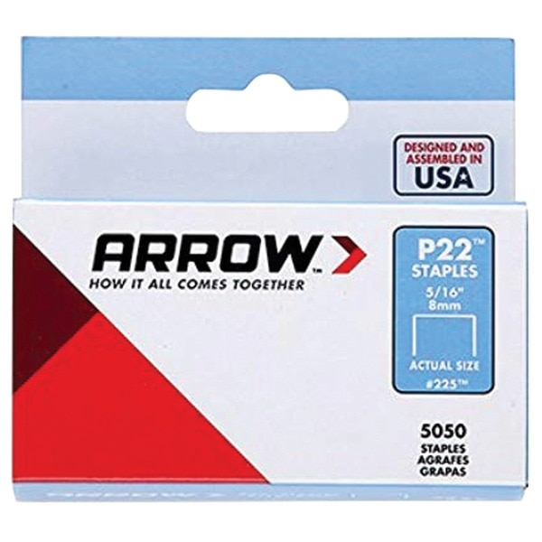 "Arrow P22 Plier Staples,  5,050-Pack (5/16"") 225"