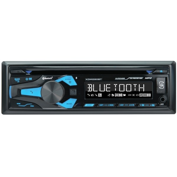 Dual Single-DIN In-Dash CD Receiver with Bluetooth XDM280BT