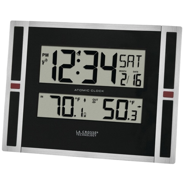 La Crosse Technology Indoor/Outdoor Thermometer and Atomic Clock 513-149