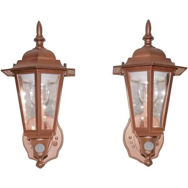 Maxsa Innovations Battery-Powered Motion-Activated LED Wall Sconce,  Pack/2 (Bronze) 46719-2PACK