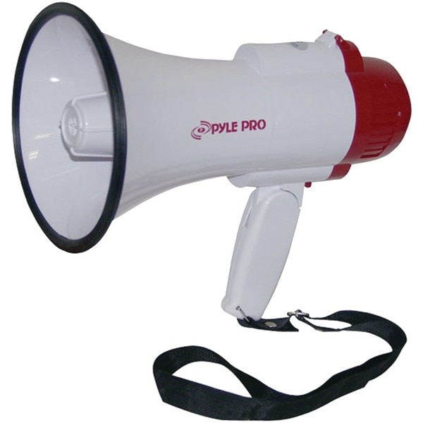 Pyle Pro Professional 30W Megaphone/Bullhorn with Voice Recording and Playback PMP35R