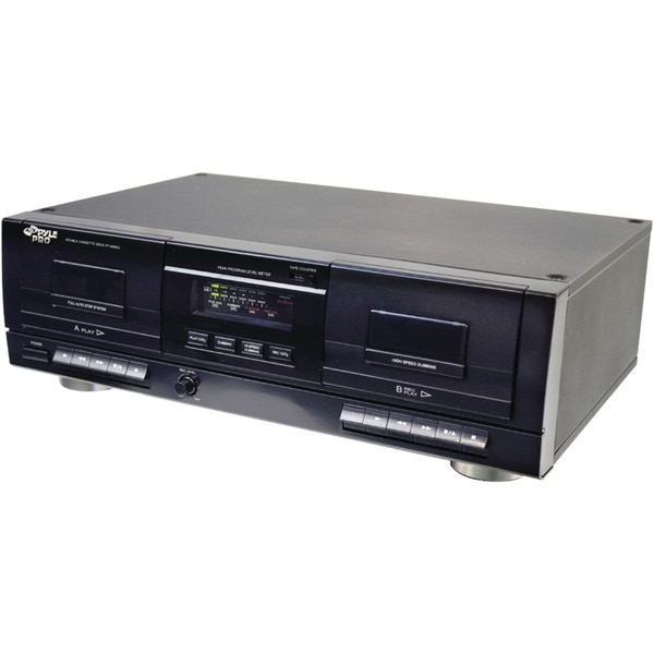 Pyle Pro Dual Cassette Deck with MP3 Conversion PT659DU