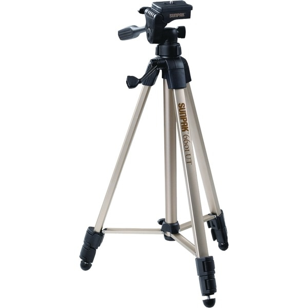 "Sunpak Lightweight 3-Way Tripod w/20.3"" Folded Height and 58"" Extended Height 620-060"