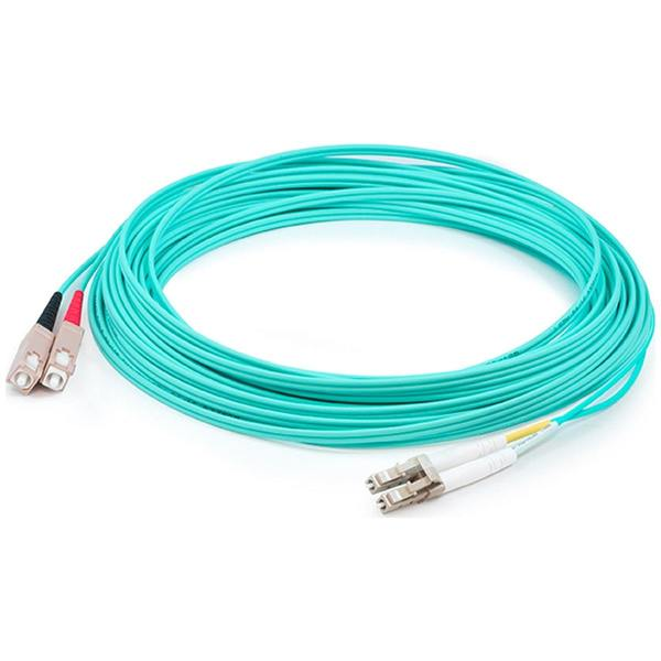 Add-On This Is A 30M Lc (Male) To Sc (Male) Aqua Duplex Riser-Rated Fiber ADD-SC-LC-30M5OM3