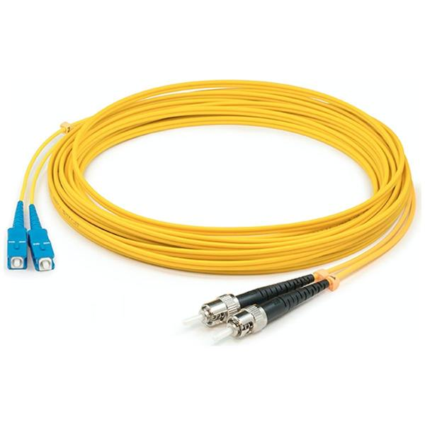 Add-On This Is A 1M Sc (Male) To St (Male) Yellow Duplex Riser-Rated Fiber ADD-ST-SC-1M9SMF