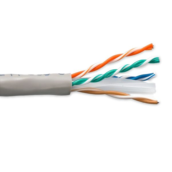 Enet Solutions, Inc. Cat6 Solid Copper Cable 1000Ft Grey C6-SOGY-1K-ENC