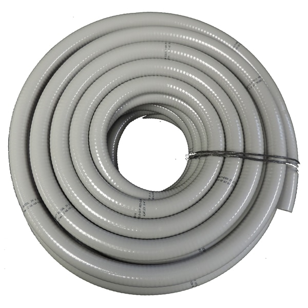 "Hydromaxx 3/8""x25Ft Non Metallic Flexible Liquid Tight Conduit with Fittings LT038025F"
