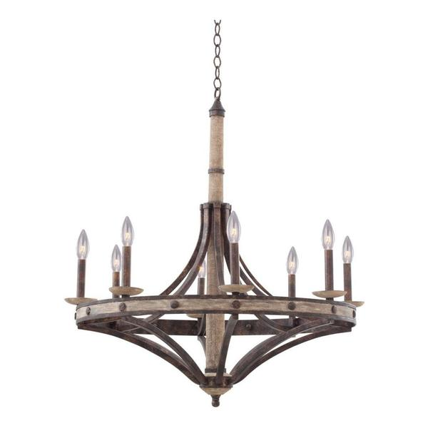 Kalco Florence Gold Coronado 8 Light 1 Tier Chandelier 7049FG