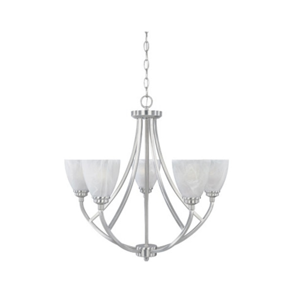 Designers Fountain Burnished Bronze 5 Light Chandelier From The Tackwood Collection 82985-SP