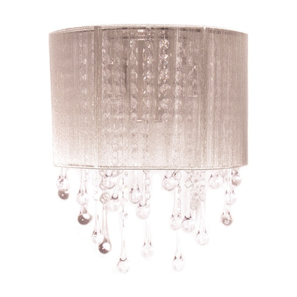 Avenue Lighting Beverly Drive Collection Taupe Silk String And Crystal Wal Sconce HF1511-TP