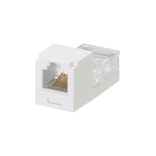 Panduit 1-PORT MOD JACK IDC 6W6P UTP, RJ11 MINI-JACK, WHITE CJ66WHY