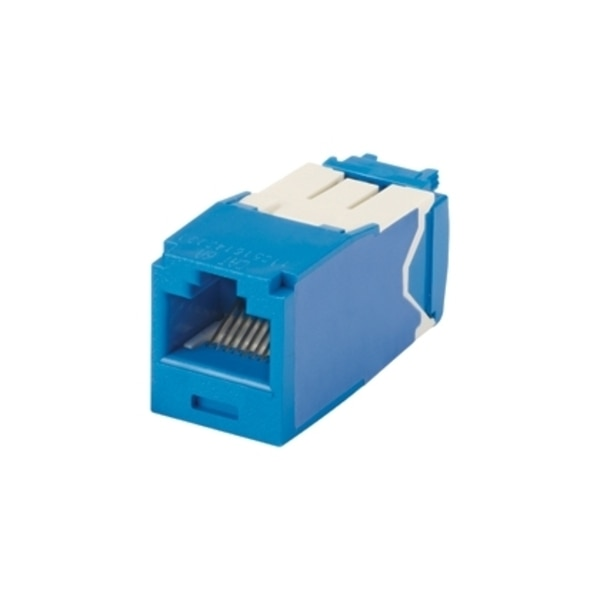 Panduit 1-PORT MOD JACK IDC 8W8P UTP, T568A/B TX6A CAT6A IP10, BLUE ROHS CJ6X88TGBU