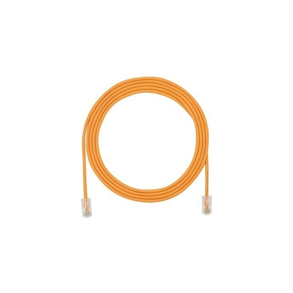 Panduit CBL ASSY MOD 28-4PR SOLID, SMALL DIAMETER 15 FT, ORANGE UTP28CH15OR