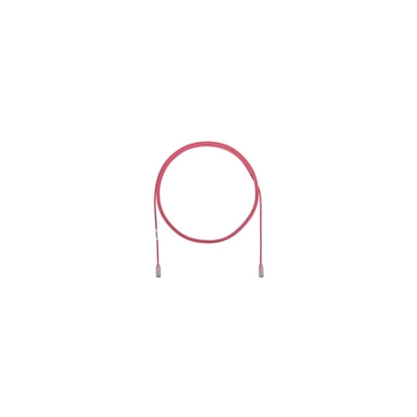 Panduit CBL ASSY MOD 28-4PR SOLID, SMALL DIAMETER 2.5 M, PINK UTP28SP2.5MPK
