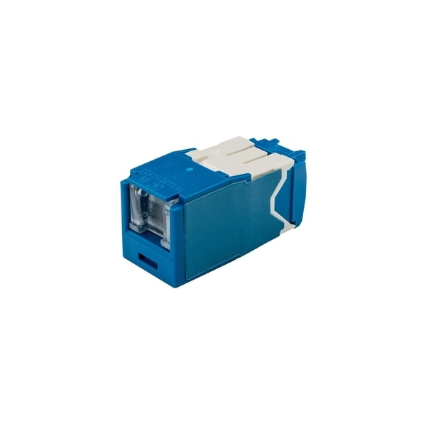 Panduit 1-PORT MOD JACK CAT6A SHIELDED, MINICOM T568A/B SPRING SHUTTER, BLUE CJSH6X88TGBUY