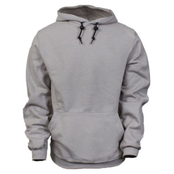 National Safety Apparel 14OZ GRAY FR PULOSWEATSHIRT-LG, MODACRYLIC BLEND FLEECE HOODED C21IG03LG