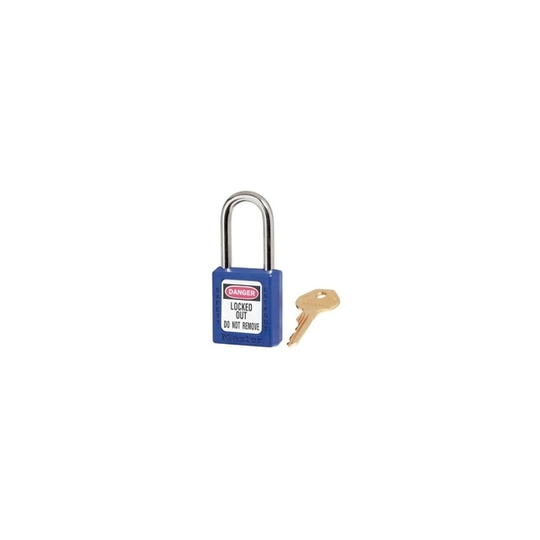Master Lock Company BLUE ZENEX THERMOPLASTICSAFETY, PADLOCK 1-1/2IN(38MM) W WITH,  410BLU
