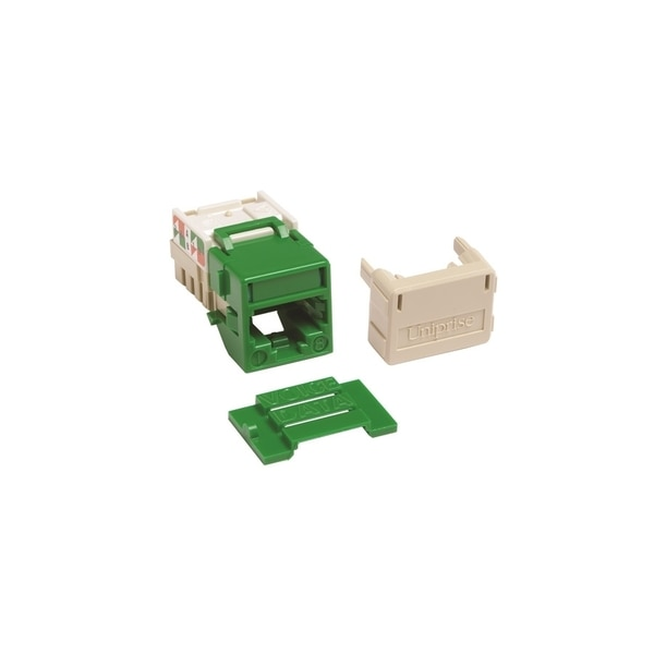 Commscope Uniprise Solutions 1-PORT MOD JACK 8W8P 110, T568A/B CAT6A IP10, GREEN UNJ10G-GR