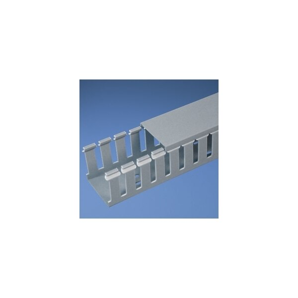 "Panduit 1"" SLOTTED DUCT LT GRAY, 6' LENGTHS HEIGHT 2"", ADHESIVE-BACKED ROHS G1X2LG6-A"